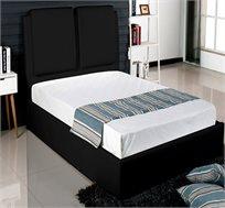 מיטה זוגית דמוי עור אופל כולל אחסון למצעים + מזרן דגם נאטורה  Clark&Comfort