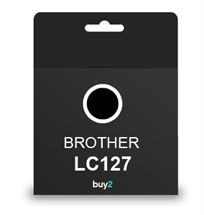 ראש דיו תואם BROTHER LC127 שחור