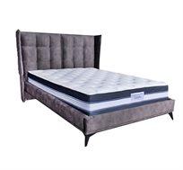 מיטה זוגית בריפוד בד נעים למגע דגם פייבוריט