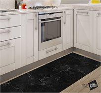 שטיח פיויסי דגם מרבל זהב שחור מעוצב ומודרני בגדלים לבחירה