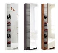 ארון נעליים גבוה עם מראה המתאים לאחסון של עד כ- 20 זוגות, תוצרת צרפת HOME DECOR דגם פטרו