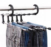 קולב הפלא למכנסיים, קל ונוח לשימוש, לתליית עד 5 זוגות מכנסיים