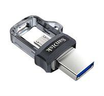 זיכרון נייד SanDisk דואלי לחיבור גם לסמארטפון וטאבלט Ultra Dual USB Drive 32GB דגם  SDDD3-032G-G46