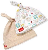 סט 2 כובעים לתינוק כותנה טריקו - בז'