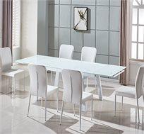 פינת אוכל כוללת שולחן + 6 כיסאות במגוון צבעים דגם OLIVO
