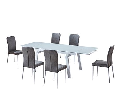 פינת אוכל הכוללת שולחן מעוצב בקו איטלקי עדין + 6 כיסאות אוכל בעיצוב תואם מבית SIRS  - תמונה 7