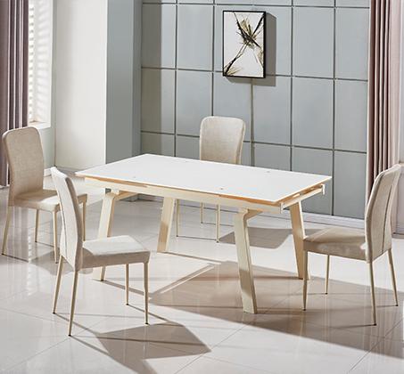 פינת אוכל הכוללת שולחן מעוצב בקו איטלקי עדין + 6 כיסאות אוכל בעיצוב תואם מבית SIRS  - תמונה 3