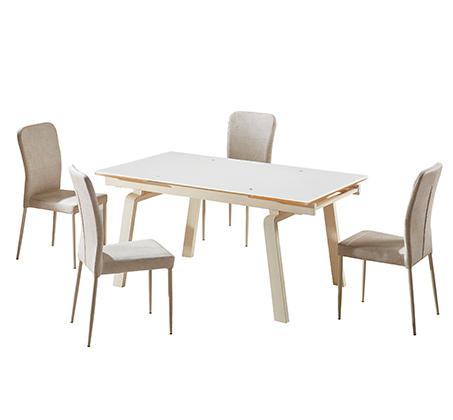 פינת אוכל הכוללת שולחן מעוצב בקו איטלקי עדין + 6 כיסאות אוכל בעיצוב תואם מבית SIRS  - תמונה 5