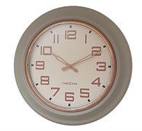 שעון קיר זכוכית ספרות נחושת