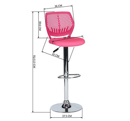 כסא בר עם מושב מרופד ונוח במגוון צבעים לבחירה - תמונה 4