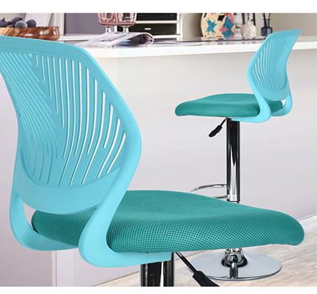 כסא בר עם מושב מרופד ונוח במגוון צבעים לבחירה - תמונה 5