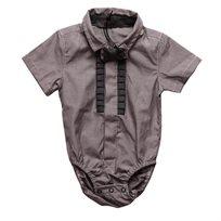 ORO אורו (12 חודשים- 3 שנים) בגד גוף מכופתר אפור