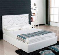 מיטה זוגית דמוי עור כולל אחסון למצעים דגם קוטור
