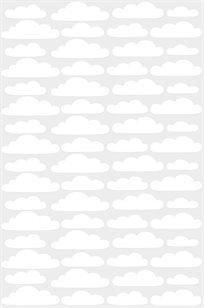 מדבקות קיר עננים לבנים