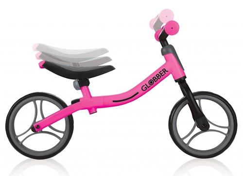 אופני איזון Go Bike עם מצבי גובה במושב ובכידון - ורוד - משלוח חינם - תמונה 2