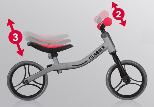 אופני איזון Go Bike עם מצבי גובה במושב ובכידון - ורוד - משלוח חינם - תמונה 4