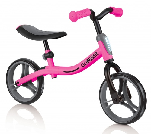 אופני איזון Go Bike עם מצבי גובה במושב ובכידון - ורוד