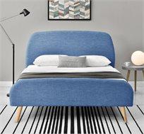 מיטה רחבה לילדים ולנוער רחבה ומעוצבת בריפוד בד HOME DECOR דגם לופט