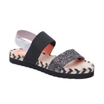 Desigual Shoes Formentera - סנדל רצועות לנשים מודפס בצבע שחור