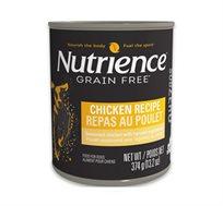 6 שימורי Nutrience לכלבים עם עוף ללא דגנים