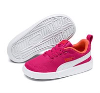 נעלי סניקרס Puma Courtflex Mesh PS לילדות בצבע ורוד