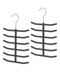 קולב עניבות - סט של 2 - שחור