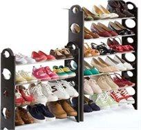 כל הנעליים במקום אחד! מתקן נעליים הכולל 10 שלבים לארגון של  עד 30 זוגות + כיסוי נשלף