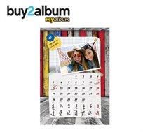 מבצע לשבוע בלבד 1+1 מתנה! לוח שנה מעוצב בגודל A4 עם תמונות אישיות לבחירתכם