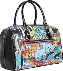 Street Style Graffiti Nicole Lee תיק יד מזוודה מעוצב לנשים