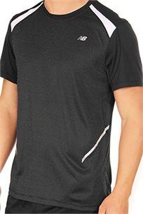 חולצת ריצה מקצועית NEW BALANCE לגבר בצבע שחור