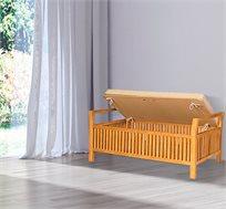 כסא הדום מרופד לישיבה ואחסון בבית