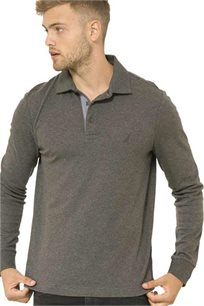 חולצת פולו ארוכה Nautica לגברים דגם 73967K00E בצבע חום