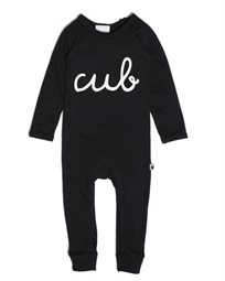 Tobias & The Bear אוברול תינוק  (24-0 חודשים)  - שחור