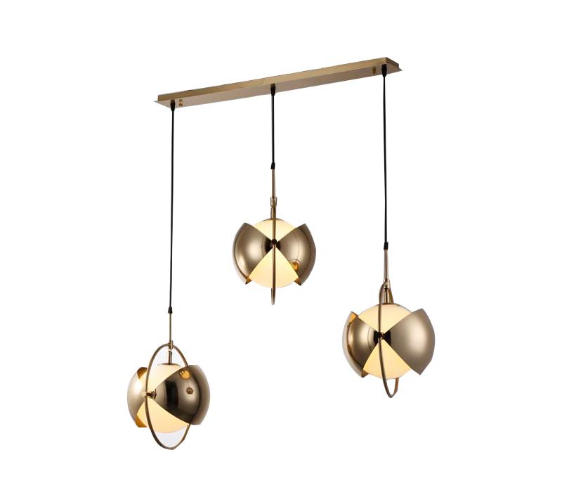 מנורת תליה דגם סארין בעלת שלושה גופי תאורה