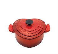 סיר 20 לב אדום ברזל יצוק לכל סוגי הכיריים ולתנור