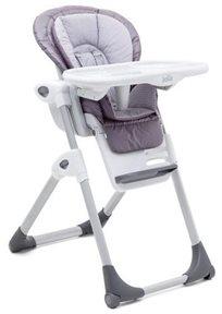 כסא אוכל מפואר לתינוק Mimzy Lx עם 3 מגשים וריפוד כפול - Gingham