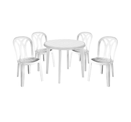 סט אירוח המורכב משולחן עגול LISA כולל 4 כיסאות PATIO נוחים במיוחד במגוון צבעים לבחירה KETER - תמונה 2