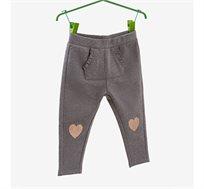 מכנסי פוטר OVS לילדות בצבע אפור עם הדפס לבבות נוצצים