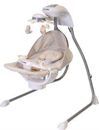 נדנדה לתינוק עם מובייל מסתובב,במנגינות וכילה Ty-801 Super - בבז'
