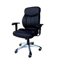 כיסא מנהלים מדמוי עור Pu עם ידיות מתכווננות ומנגנון נדנוד דגם אופטימה
