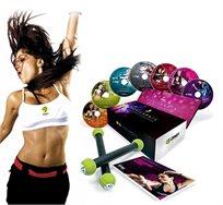 כנסו לקצב! ערכת הזומבה המושלמת כוללת מארז DVD, מדריך אימונים ותזונה ומקלות אימון - משלוח חינם!