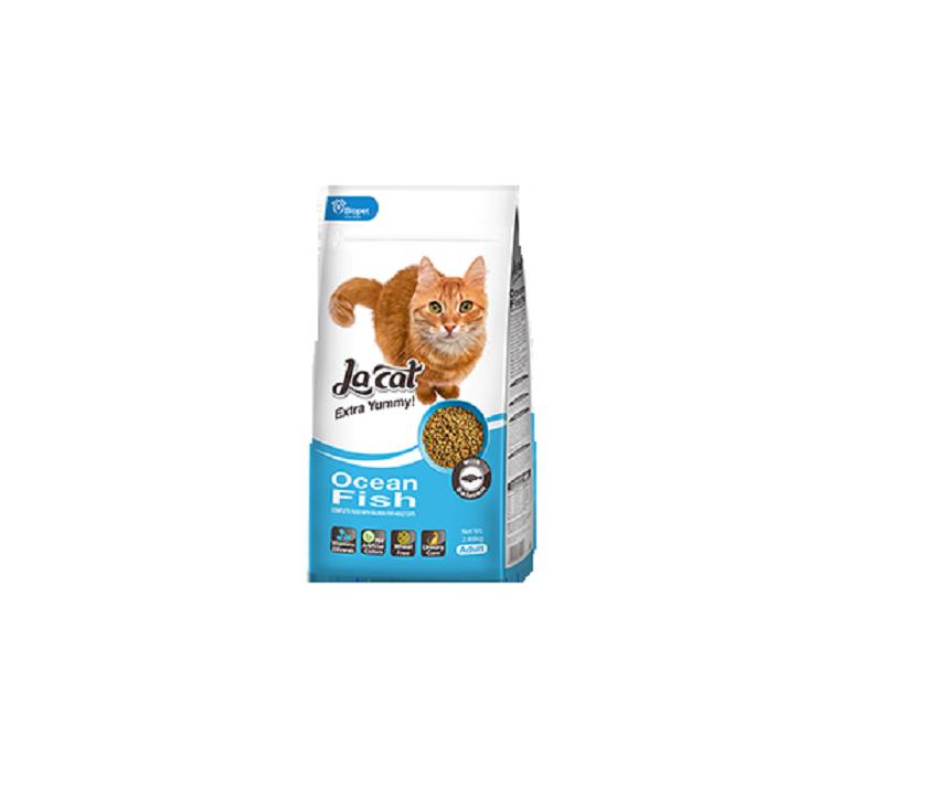 מזון לחתולים בוגרים להקט דגים 7.2+1.5 ק''ג La Cat