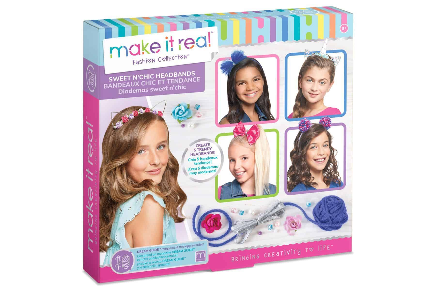 """ערכת יצירה להכנת קשתות לשיער מבית Make It Real ארה""""ב"""