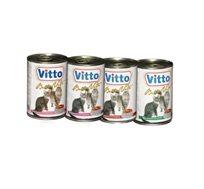 12 יחידות נתחים בקופסאות שימורים Vitto שימורים לחתולים
