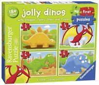 הפזל ראשון שלי 4 פזלים  דינוזאורים משעשעים