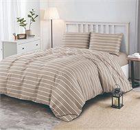 סט מצעים למיטה זוגית דגם VERTIGO במגוון צבעים לבחירה VIA