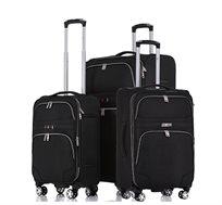 סט 3 מזוודות טרולי מבד סוויס דגם Geneva