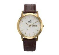 שעון יד קלאסי לגבר עם תאריך ויום בשבוע עשוי פלדת אל חלד  מבית ADI