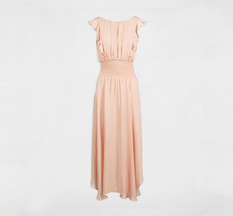 שמלת מלמלה עם חגורה MORGAN - צבע לבחירה