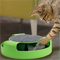 משחק לחתול גלגל עם עכבר מסתובב
